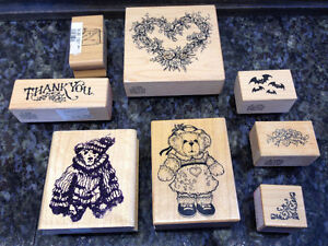 Rubber stamps and embossing powders