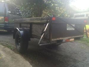 Heavy duty 4x8 open trailer