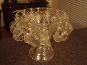 Glass Punchbowl set for 12 (27 pieces)