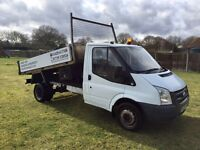 Ford transit twin wheel tipper truck