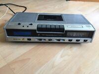 Vintage Hifi Waltham stereo cassette radio digital clock