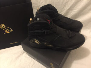 Air Jordan 8 Black OVO size 9.5
