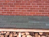 Roofing felt tiles