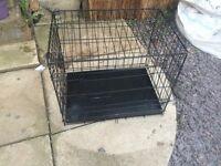 Dog cage 2 door. Metal tray