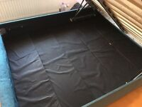 King size storage bed with memory foam mattress