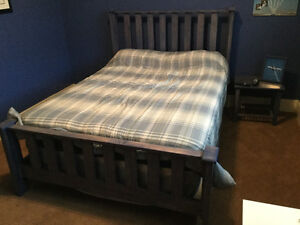 Double bedroom set with mattress , dresser end table