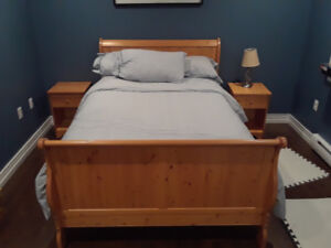Pine double bed set 6 piece