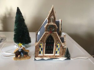 Dept 56 Church of the Holy Light w/ Nativity (Retired)