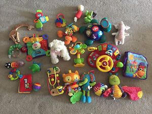 Bag of baby toys