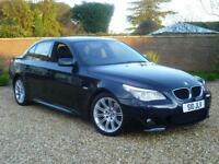 2009 09, BMW 520d 2.0TD auto d M Sport Saloon + SAT NAV + LEATHER + CRUISE