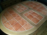 Hardwood Extending Table and 4 Chairs