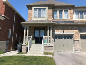 4 Bedroom 4 W/R 2000 Sq Ft semi-detached For Lease in Brampton