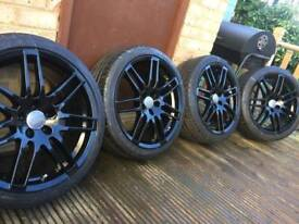 """18"""" 5x112 GENUINE Audi Le Mans alloys with 225/40/18 tyres"""