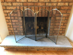 Fireplace 4-panel screen