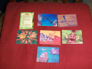 LOT OF 7 CARDS-LION KING-DISNEY-1994-SKYBOX CARDS-VINTAGE!
