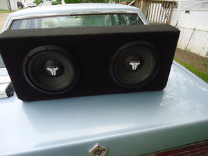 2x10 inch jl audio sub woofers  in box