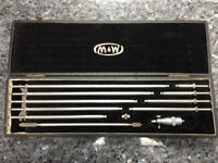 "MOORE AND WRIGHT 2"" - 12"" INSIDE MICROMETER SET - ONLY $160"