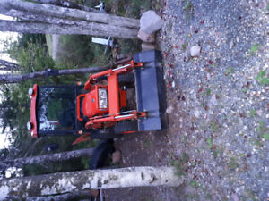 """2014 kioti Ck20hst with backhoe and 54"""" snow blower"""