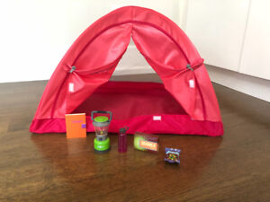 American Girl Camping and Tent Set