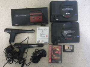 Console lot, Sega Master system, Genesis x2, games and more