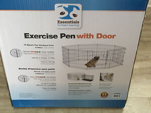 Exercise Pen with door, new condition