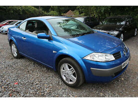 2005 Renault Megane Privilege 1.6 VVT 115 Petrol Convertible Manual Blue FSH