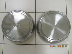 Vintage 2pcLotFord PickUp HubCaps Stainless Steel Circa 1970-80s