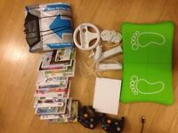 Wii fit console package with 18 games