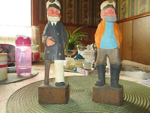 HAND CARVED WOODEN CAPTAINS