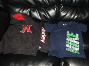Hurley sweater and Nike t-shirt