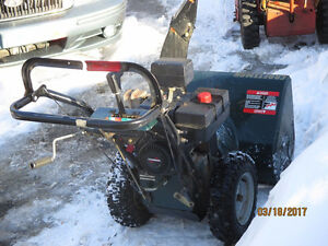 8.5 HP 27 inch Craftsman snowblower for sale