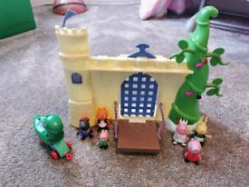 Peppa pig bundle: school, train, castle, houses etc