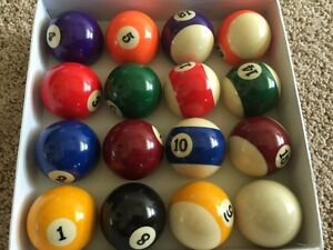 BRAND NEW SET OF EIGHT BALL - POOL - NEW IN CASE!