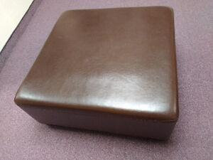 Real leather ottoman