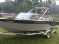 18 FOOT LEGEND EXCALIBER, 90 MERCURY 4 STROKe, TRAILER