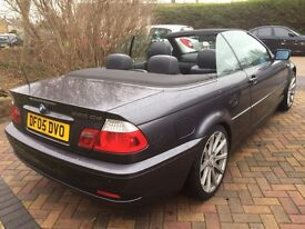 BMW 320D CONVERTIBLE 6 SPEED 2005- LOW MILEAGE