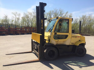 2006 HYSTER H155FT forklift with ENCLOSED HEATED CAB DIESEL