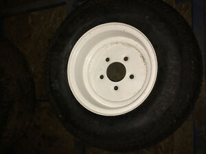 20.5/800X10 fat boy trailer tire on wheel