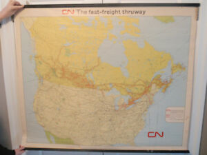 CPR & CNR Railway Wall Maps
