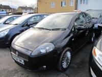 2008 Fiat Grande Punto Hatch 3Dr 1.4 8V 77 GP Petrol black Manual