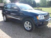 Jeep Grand Cherokee V6 Crd Limited 78K! RAC WARRANTY!+4 NEW TYRES DIESEL 2006/06