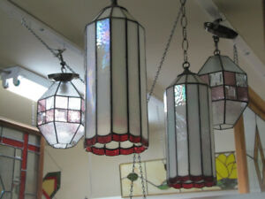 Stained Glass Art:  Panels for windows, lamps, supplies, lessons