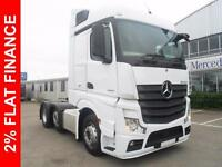 2015 Mercedes-Benz Actros 2545LS, MONTHLY FINANCE PACKAGES AVAILABLE Diesel whi