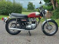 1977 TRIUMPH BONNEVILLE T140V. STUNNING CLASSIC MATCHING No's DELIVERY AVAILABLE