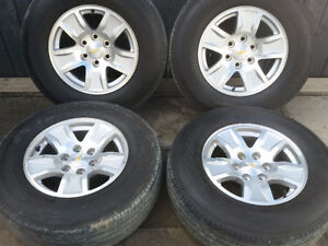 !! CHEVROLET TRUCK/SUV FACTORY ALLOY WHEELS/TIRES $1300.00