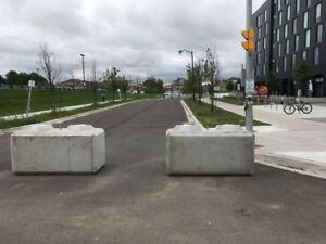 Concrete blocks delivered for erosion, retaining walls and fill