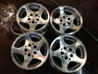 ORIGINAL 15 INCH JEEP MAGS/RIMS