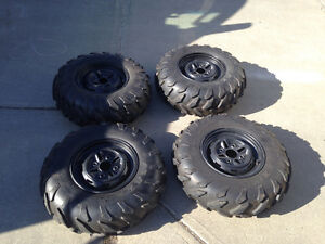 Factory quad tires and rims Strathcona County Edmonton Area image 1