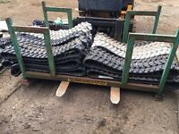 X25 brand new rubber digger tracks.