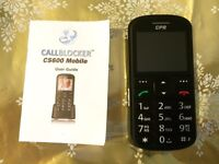 Call blocker mobile phone, BNIB, ideal for older people and anyone with poor eyesight